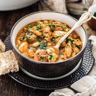 Brazilian Paprika Chicken Stew with White Beans