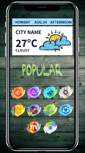 Water Color - Icon Pack Screenshot