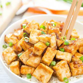 Crispy Baked Garlic Tofu.