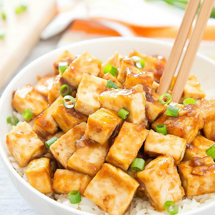 Crispy Baked Garlic Tofu Recipe