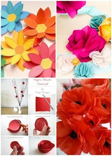 DIY Paper Flower Designs Screenshot Thumbnail
