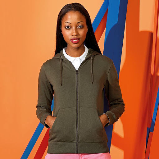 Asquith & Fox Organic Cotton Ladies Hooded Sweat