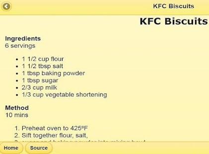 KFC of chicken recipes - náhled