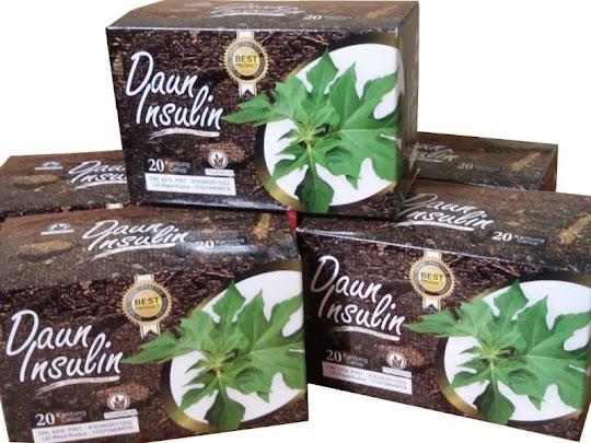 Teh Celup Daun Insulin herbal mengatasi diabetes kencing manis menurunkan gula darah menyegarkan