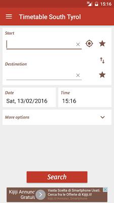 Timetable South Tyrol - screenshot
