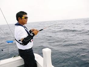 Photo: ジャイアン高野さんもヒットするも、寸前でフックアウト。 あいやー。