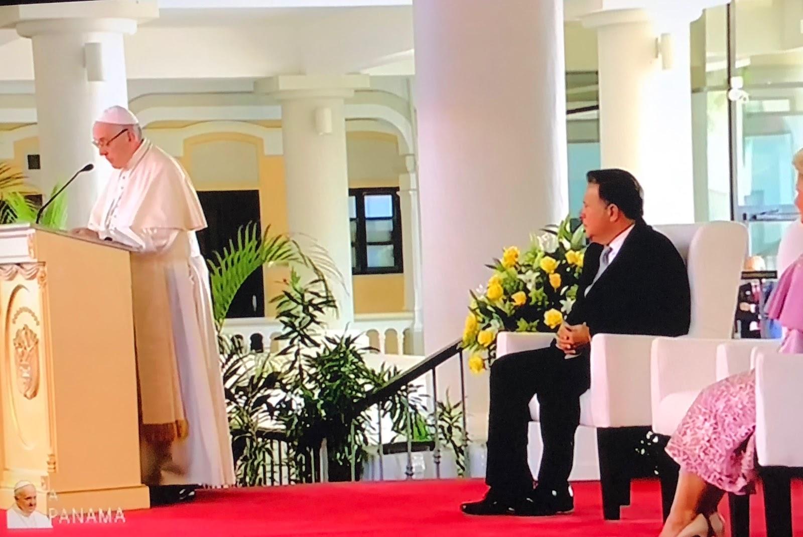 Diễn từ của Đức Thánh Cha Phanxico trước các giới chức Panama, Ngoại giao đoàn