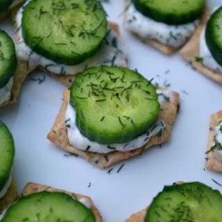 Gluten-Free Cucumber Sandwich Bites Recipe