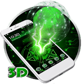 Neon Green Technology 3D Theme