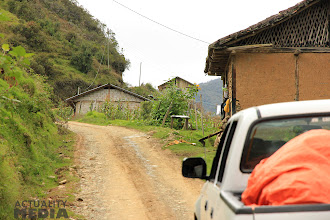 Photo: Filming en route to the mountains with the FCT crew. Off in the far distance - success!