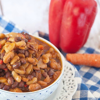 Healthy Cider Bacon Baked Beans.
