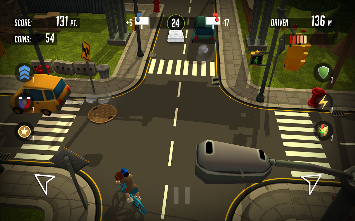 PaperBoy:Infinite bicycle ride- screenshot