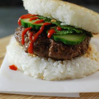 Rice Bun Burgers.
