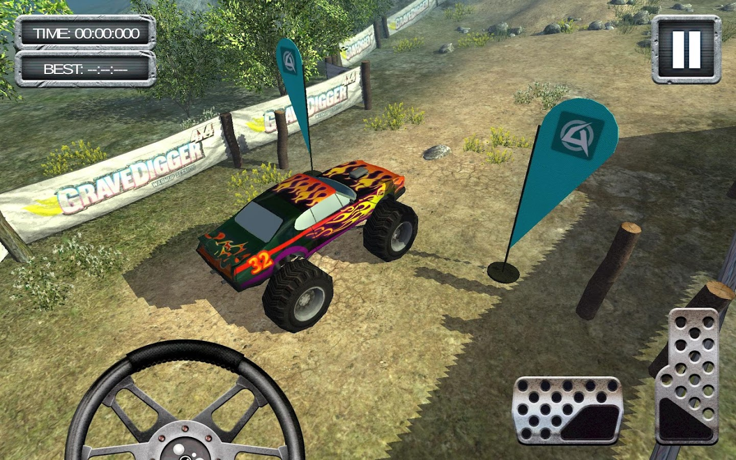 GraveDigger 4x4 Hill Climb 3D- screenshot