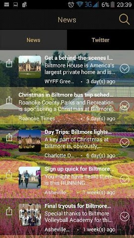 android Biltmore Tickets App Screenshot 2