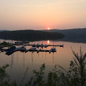 Rursee by Els He - Landscapes Sunsets & Sunrises ( nature, germany, eifel, rursee, lake,  )