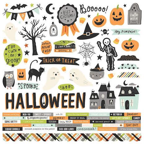 Simple Stories Sticker Sheet 12X12 - Spooky Nights