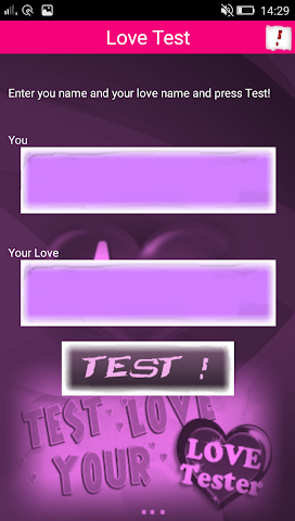 android Love Test Screenshot 1