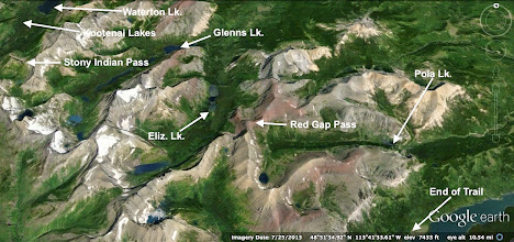 Photo: NEXT - 5 days and nights in the back-country of GNP; We started at the southern end of Waterton Lake and ended near Sherburne Lake (Many Glacier area)