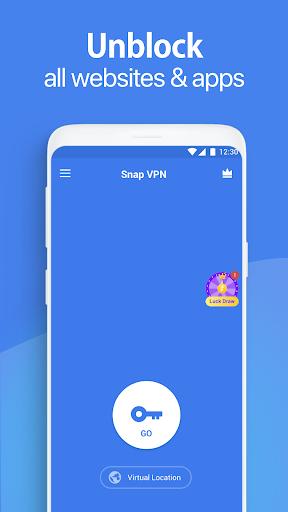 Snap VPN - Unlimited Free & Super Fast VPN Proxy 4.3.3 Screenshots 1