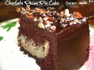 Chocolate Pecan Pie Cake