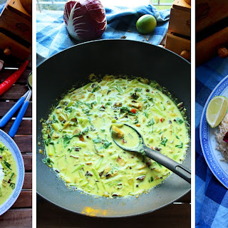 Easy Green Curry with Mussels and Bok Choy.