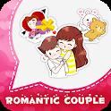 Romantic Love Couple Sticker For WhatsApp 👩❤️👨 icon