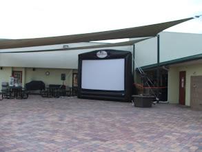 Photo: Outdoor movie tonight!!