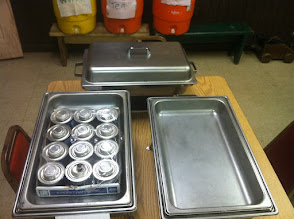 Photo: Chafing dishes, steam trays for hot food