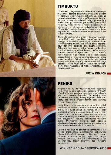 Tył ulotki filmu 'Timbuktu'