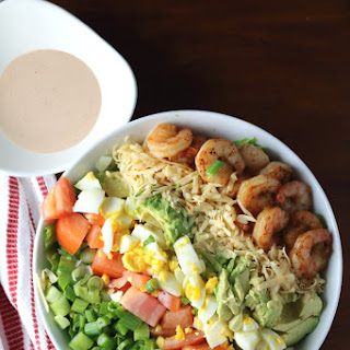 Mesquite Shrimp Cobb Salad + BBQ Ranch Dressing