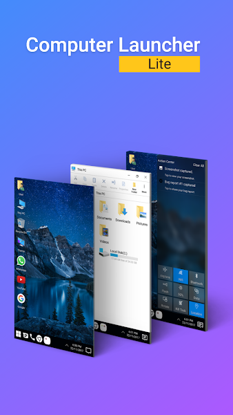 Computer Launcher Lite - Win 10 Style Screenshot Image