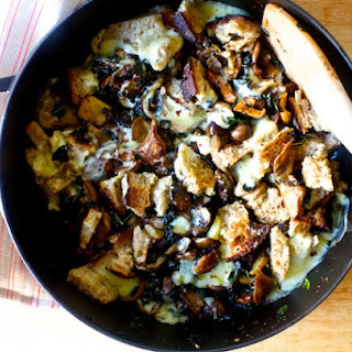 Mushrooms and Greens with Toast