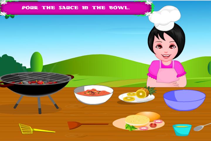 android Girls Cooking-Burger Screenshot 1