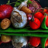 Riflessione di verdure di