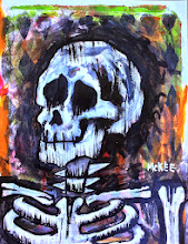"Photo: Calaveras #46.  8.5/11"" or 22/28 cm.  Mixed medium on thick archival paper.  Signed and sealed.  ©Marisol McKee"