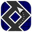 Paper Plane Zig Zag Free icon