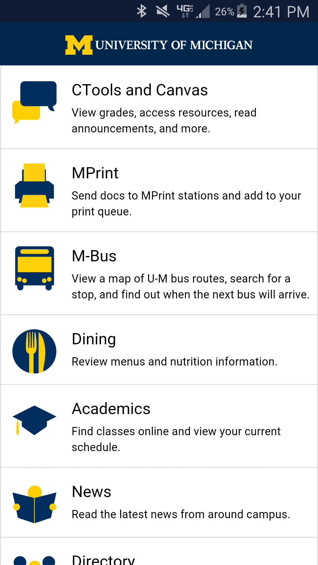 University of Michigan (Android) reviews at Android Quality
