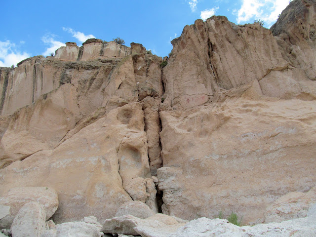 Painted Rocks pictographs (up high and to the right of the crack)