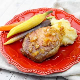Maple Glazed Baked Pork Chops.