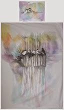 """Photo: Joanna Dobranowska """" W zielonym lesie...""""komplet pościeli, malowanie na tkaninie"""