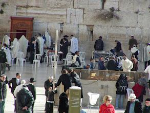 Photo: This is a place of perpetual worship.  It is a part of the Temple Mount, built by Herod in 20 B.C.