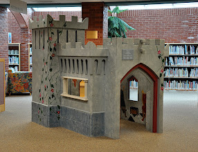 Photo: Children's Library playhouse/castle/puppet theatre