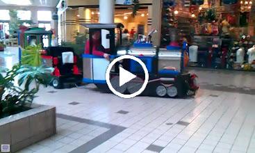 Video: Train Running Around in the Mall