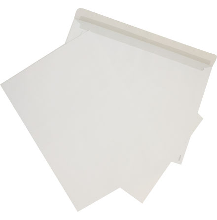 Kuvert C4 vit med remsa 50/fp