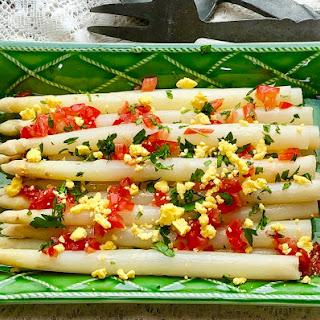 White Asparagus with Tomato Vinaigrette Recipe