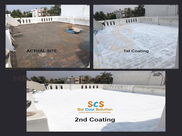 SAI COOL SOLUTION ( Heat Reflective Paint - Roof cool coat )