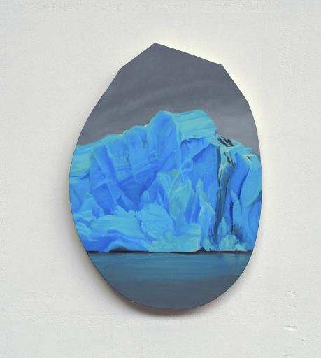 Mortenson_Heritage 1_8 2018, peinture à l'huile sur toile, diamètres maximums 44 x 38 cm