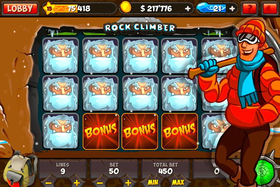 Rock Climber Slot Machine