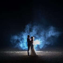 Night by Lood Goosen (LWG Photo) - Wedding Bride & Groom ( wedding photography, wedding photographers, wedding day, weddings, wedding, brides, bride and groom, wedding photographer, bride, groom, grooms, bride groom )